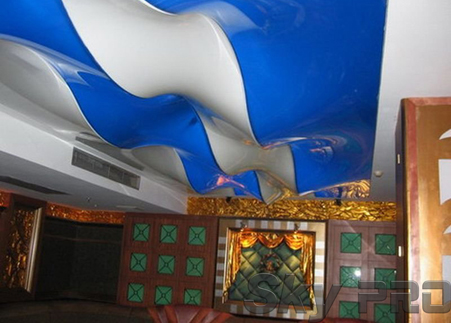 3D натяжные потолки в интерьере решения