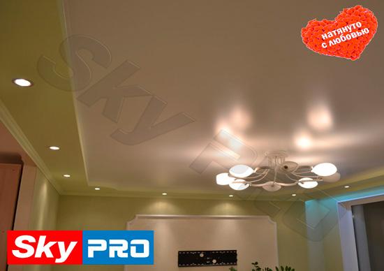 skypro натяжные потолки без швов
