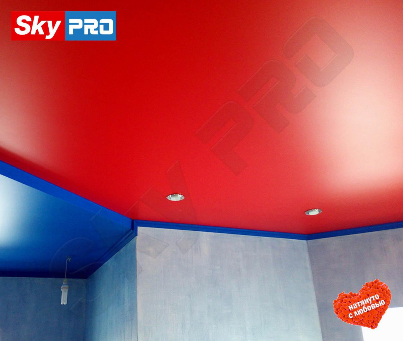 Цветной матовый натяжной потолок Экстра цена за метр