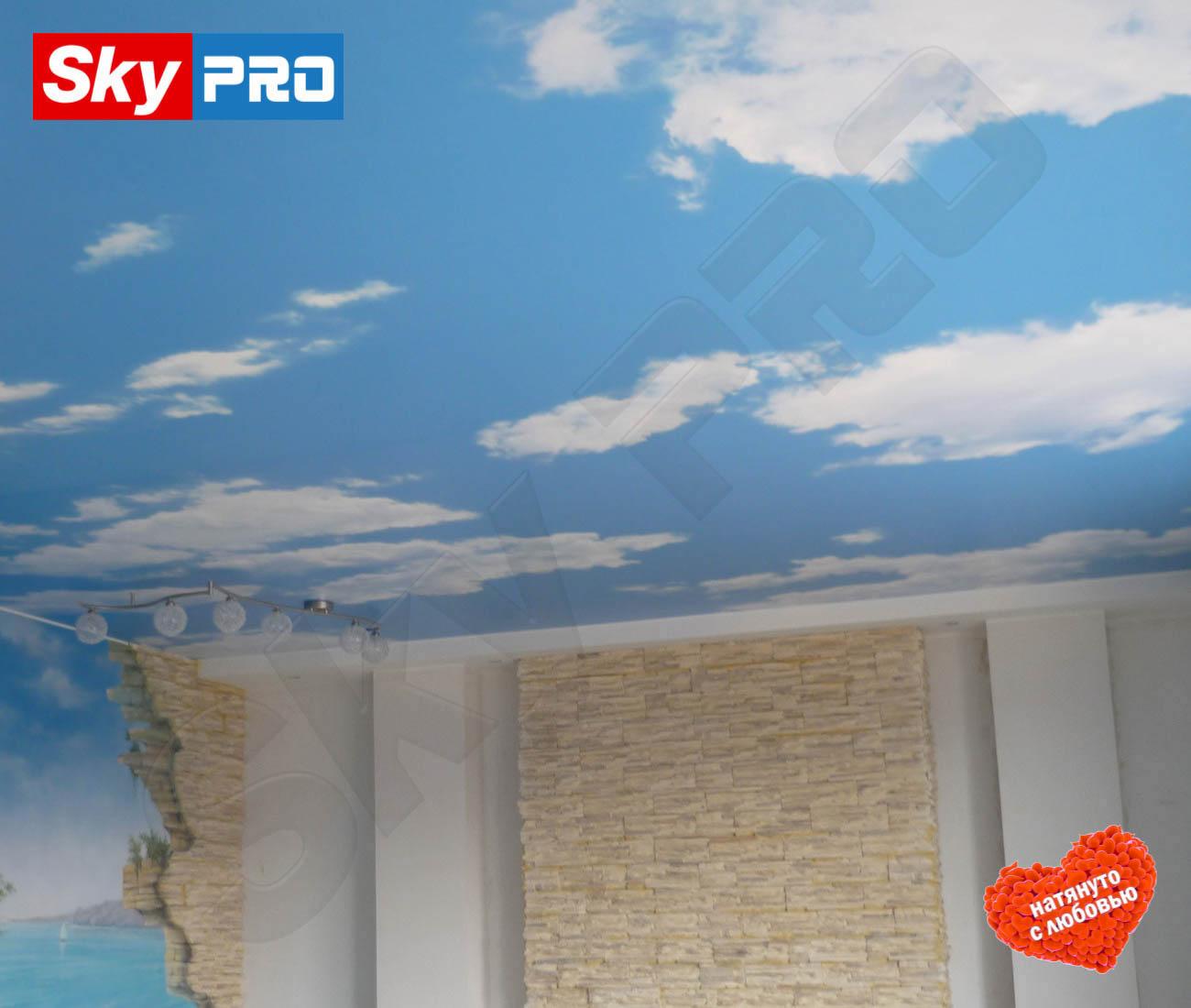 Натяжной потолок Небо цена за метр в квадрате