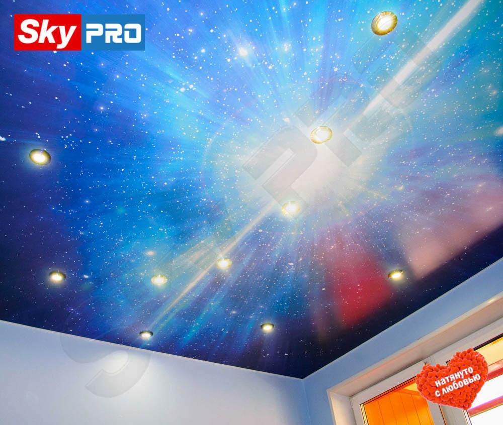 Натяжной потолок с фотопечатью Экстра цена за метр