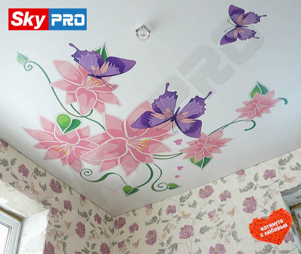 Натяжной потолок с фотопечатью Классик цена за метр
